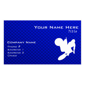 Azote azul del motocrós tarjeta de visita