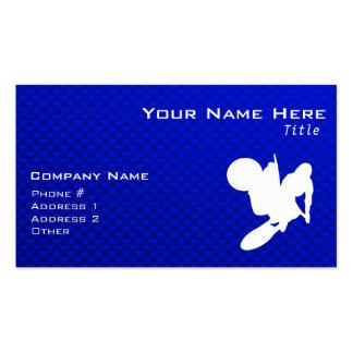 Azote azul del motocrós tarjetas de visita