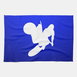 Azote azul del motocrós toalla