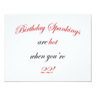 Azote de 22 cumpleaños anuncio personalizado