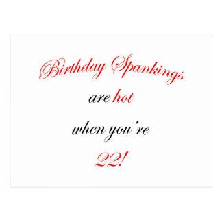 Azote de 22 cumpleaños tarjetas postales