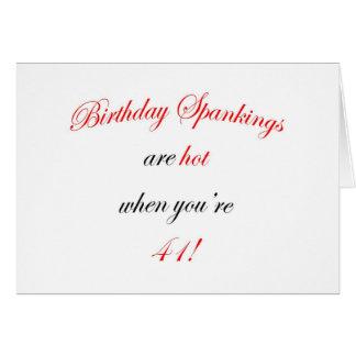 Azote de 41 cumpleaños tarjeta de felicitación