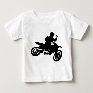 Azote de la bici del motocrós playera para bebé