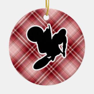 Azote del motocrós ornaments para arbol de navidad