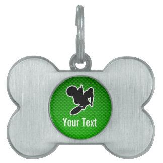 Azote del motocrós placas de nombre de mascota