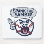 Azote el béisbol indignante de los tirones alfombrilla de ratón