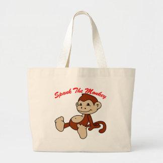 Azote el mono bolsa tela grande
