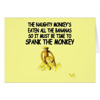 Azote el mono tarjeta de felicitación