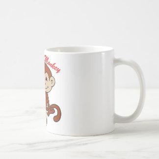 Azote el mono taza de café