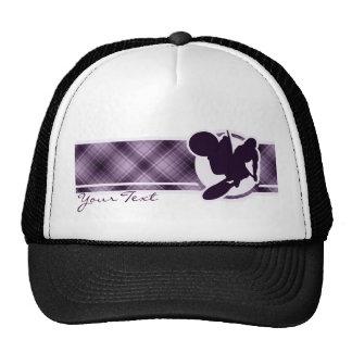 Azote púrpura del motocrós gorro