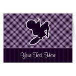 Azote púrpura del motocrós tarjeta