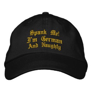 ¡Azóteme! Soy casquillo bordado alemán y travieso Gorras De Béisbol Bordadas