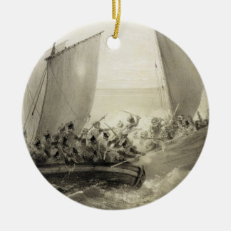 Azov Cossacks Boarding a Turkish Corsair full of C Christmas Ornament