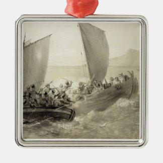 Azov Cossacks Boarding a Turkish Corsair full of C Ornament