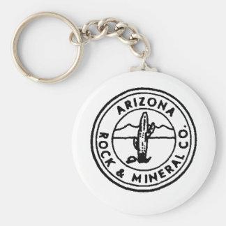 Azrock Basic Round Button Keychain