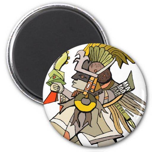 Aztec 2 Inch Round Magnet