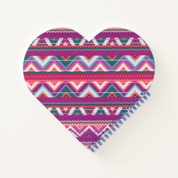 Aztec Themed Aztec #8 - Heart Shaped Notebook