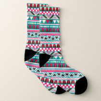 Aztec abstract pattern socks