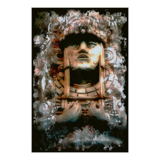 AZTEC ABSTRACT POSTER
