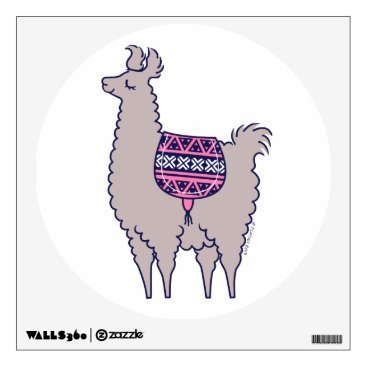 Aztec Alpaca Wall Decal