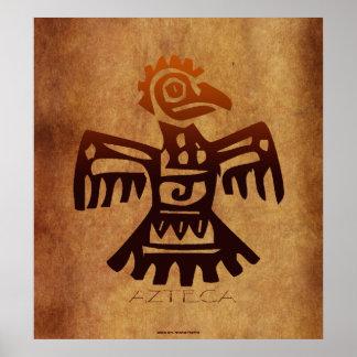AZTEC ~ Amaranth Mexican Bird Spirit Art Poster
