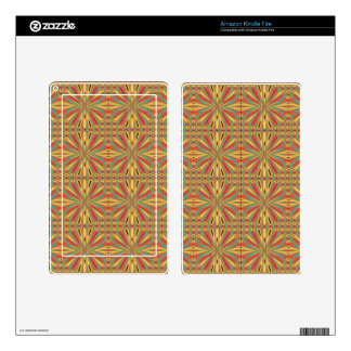 Aztec American Pattern. Multicolor Design Decals For Kindle Fire