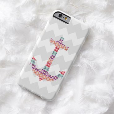 Aztec Themed Aztec Anchor Grey Chevron Barely There iPhone 6 Case