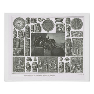 Aztec and Mayan religious rites Poster