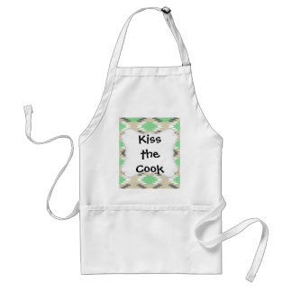 Aztec Andes Tribal Green Gray Native American Apron