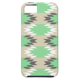 Aztec Andes Tribal Green Gray Native American iPhone 5 Cases
