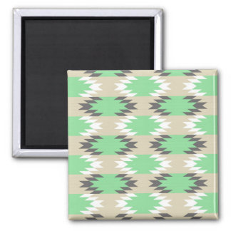 Aztec Andes Tribal Green Gray Native American Magnet