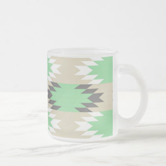 Aztec Andes Tribal Green Gray Native American Coffee Mug