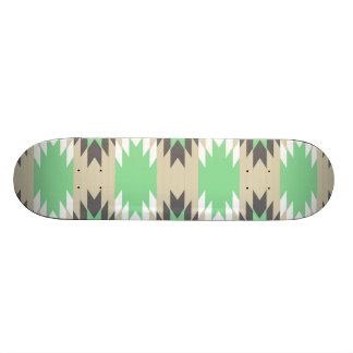 Aztec Andes Tribal Green Gray Native American Custom Skateboard