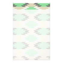 Aztec Andes Tribal Green Gray Native American Stationery