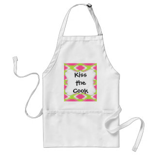 Aztec Andes Tribal Hot Pink Lime Green Pattern Aprons