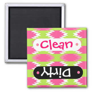 Aztec Andes Tribal Hot Pink Lime Green Pattern Magnet