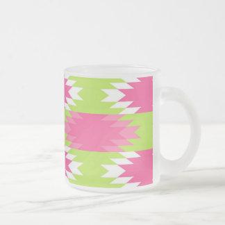 Aztec Andes Tribal Hot Pink Lime Green Pattern Mug