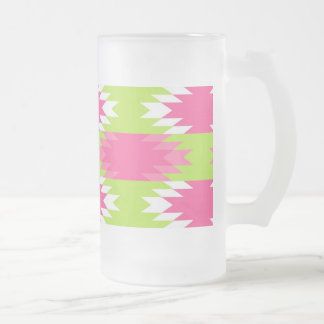 Aztec Andes Tribal Hot Pink Lime Green Pattern Coffee Mugs