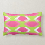 Aztec Andes Tribal Hot Pink Lime Green Pattern Throw Pillows