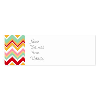 Aztec Andes Tribal Mountains Chevron Fiesta Zigag Double-Sided Mini Business Cards (Pack Of 20)
