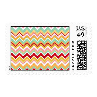 Aztec Andes Tribal Mountains Chevron Fiesta Zigag Stamp