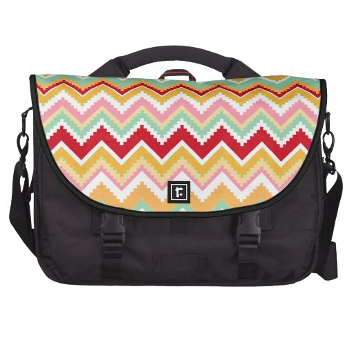 Aztec Andes Tribal Mountains Chevron Fiesta ZigZag Bag For Laptop