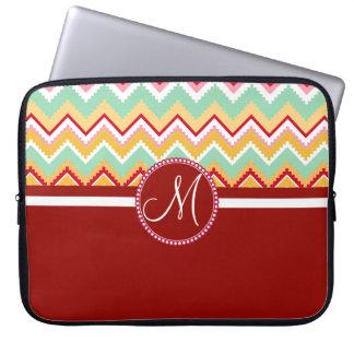 Aztec Andes Tribal Mountains Chevron Fiesta ZigZag Laptop Sleeve