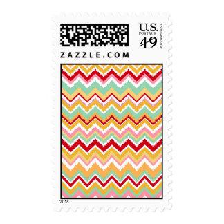 Aztec Andes Tribal Mountains Chevron Fiesta ZigZag Postage Stamp