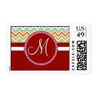 Aztec Andes Tribal Mountains Chevron Fiesta ZigZag Stamp