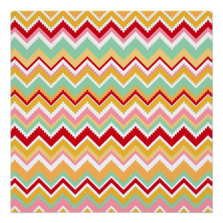 Aztec Andes Tribal Mountains Chevron Fiesta ZigZag Posters