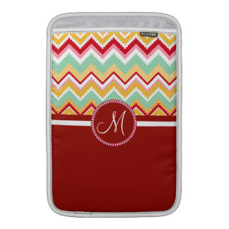 Aztec Andes Tribal Mountains Chevron Fiesta ZigZag Sleeve For MacBook Air