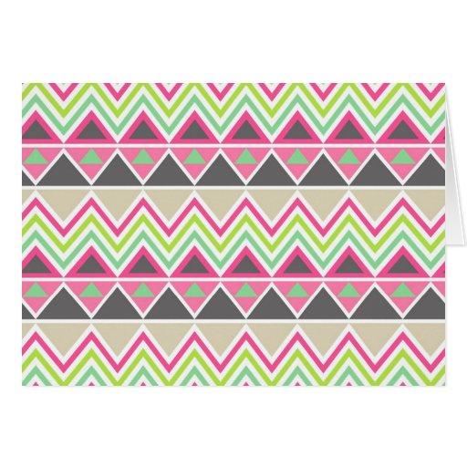 Aztec Andes Tribal Mountains Chevron Zig Zags Greeting Card