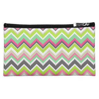 Aztec Andes Tribal Mountains Chevron Zig Zags Cosmetic Bag