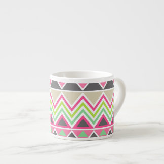 Aztec Andes Tribal Mountains Chevron Zig Zags Espresso Cup